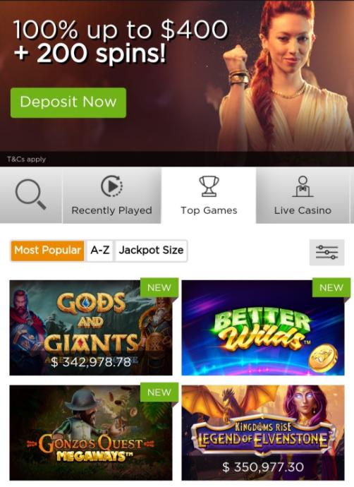 Casino.com Mobile App