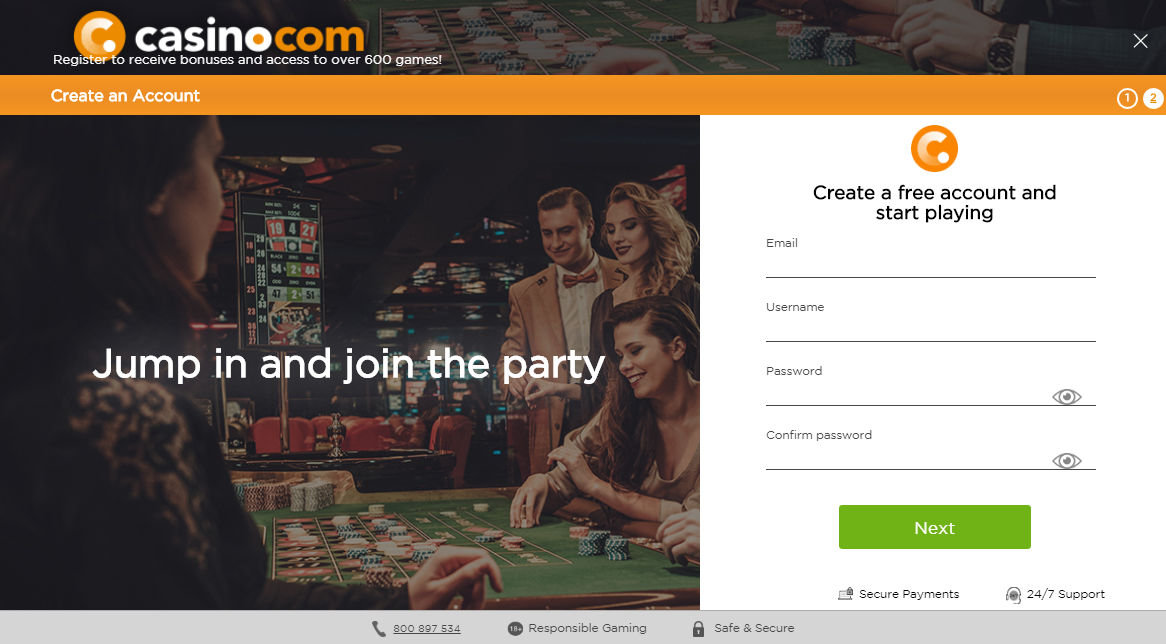 Casino.com Register