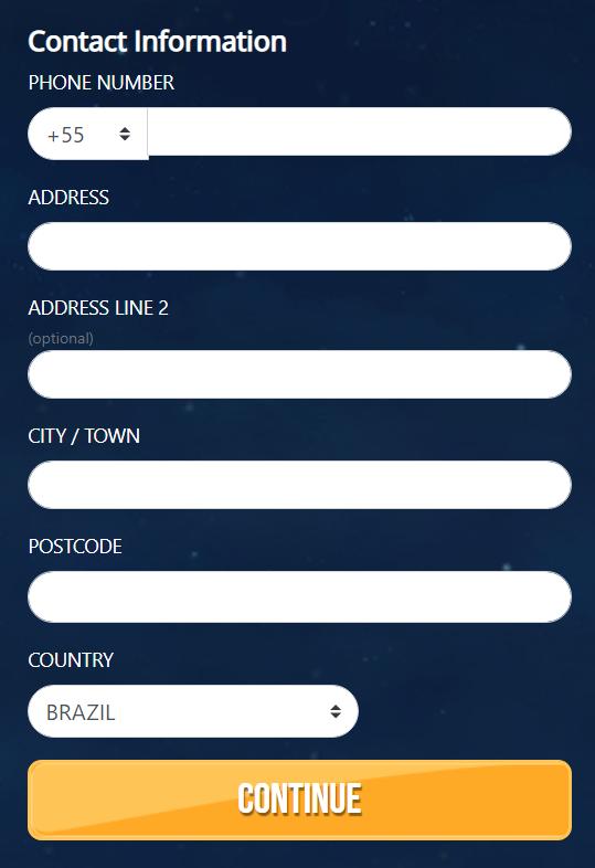 Complete Sign-up Form