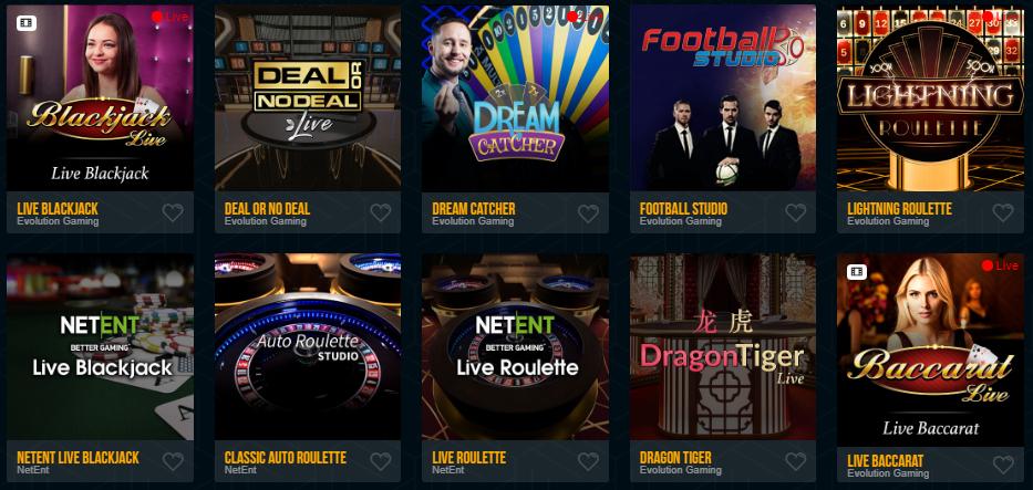 Dream Vegas Live Games