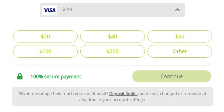 Dream Vegas Payment Methods