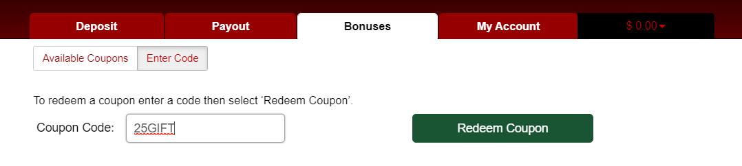 Walang Red code Casino ang Red Dog Casino