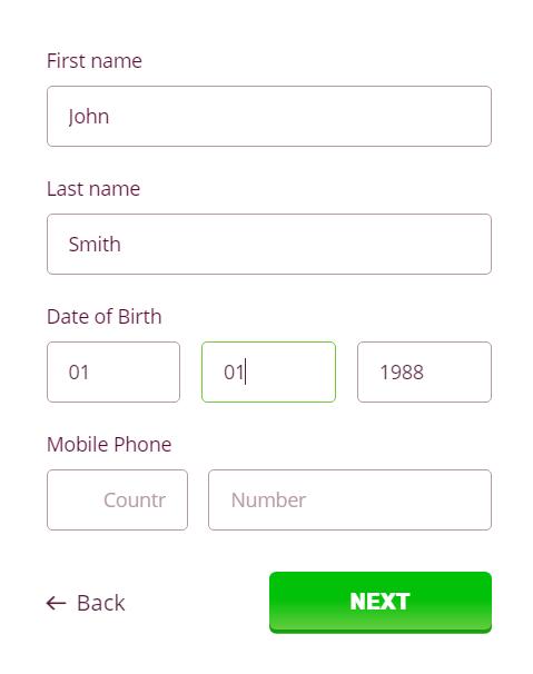 Register on PlayAmo Casino online