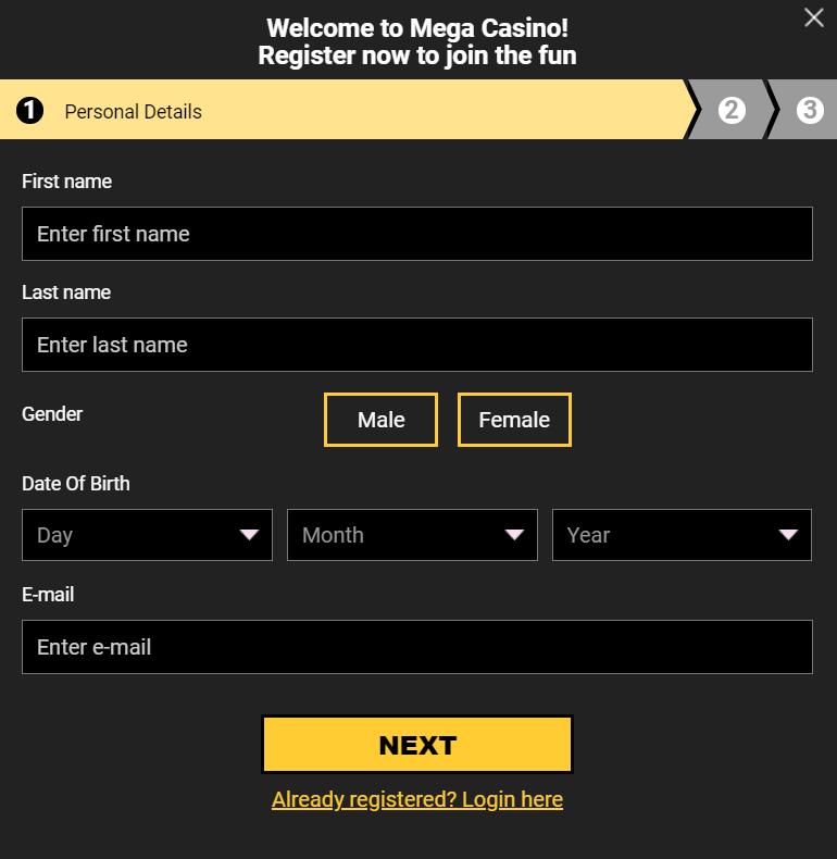 Form ng Pag-sign-up