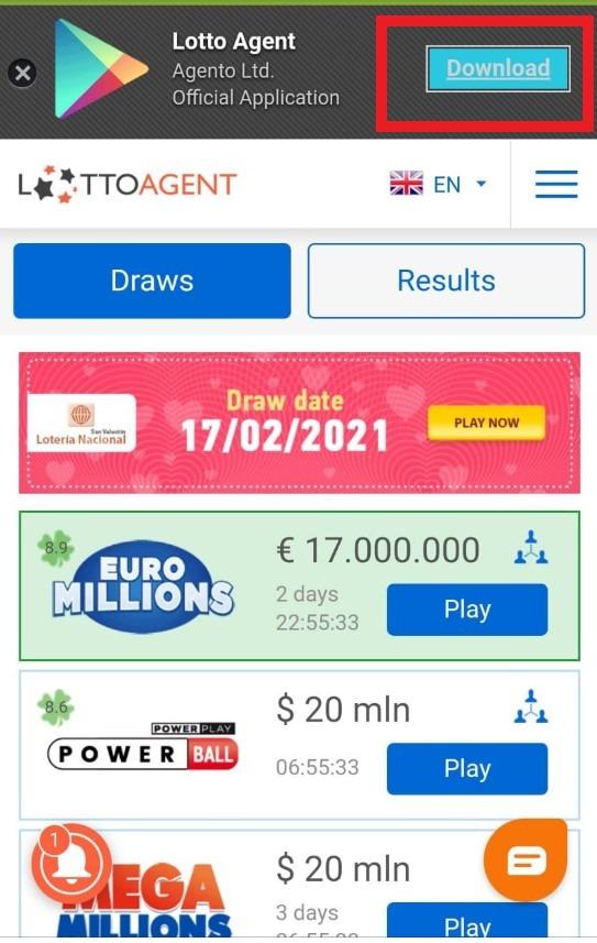 Download LottoAgent App