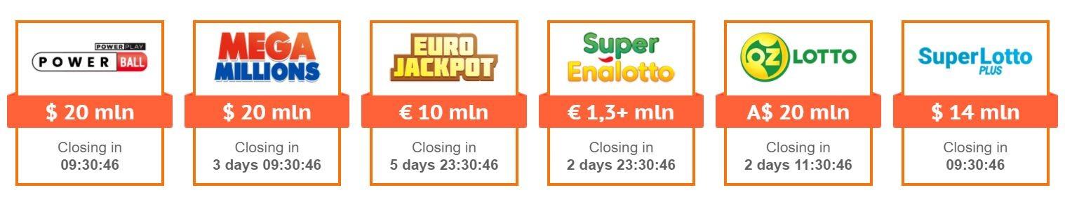 Lotteries on LottoAgent