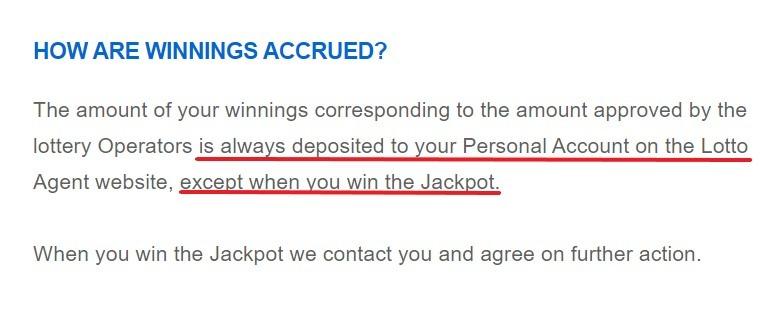 LottoAgent Payout