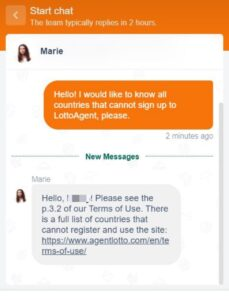 LottoAgent Support Chat