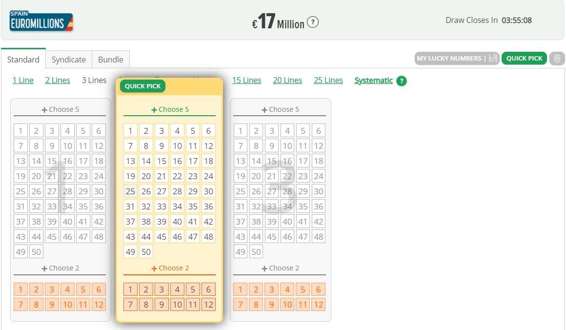 LottoSmile India Interface