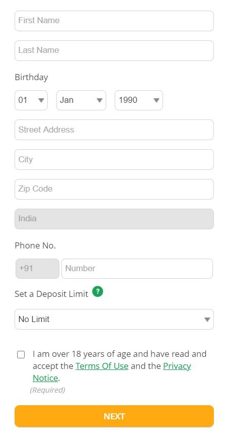 LottoSmile India Personal Details