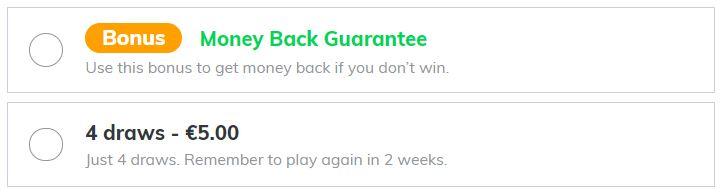 Money-back bonus