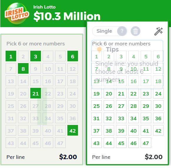 Multilotto Lottery Bet