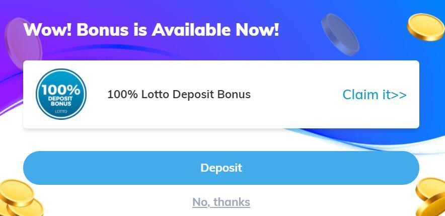 Multilotto Welcome Bonus