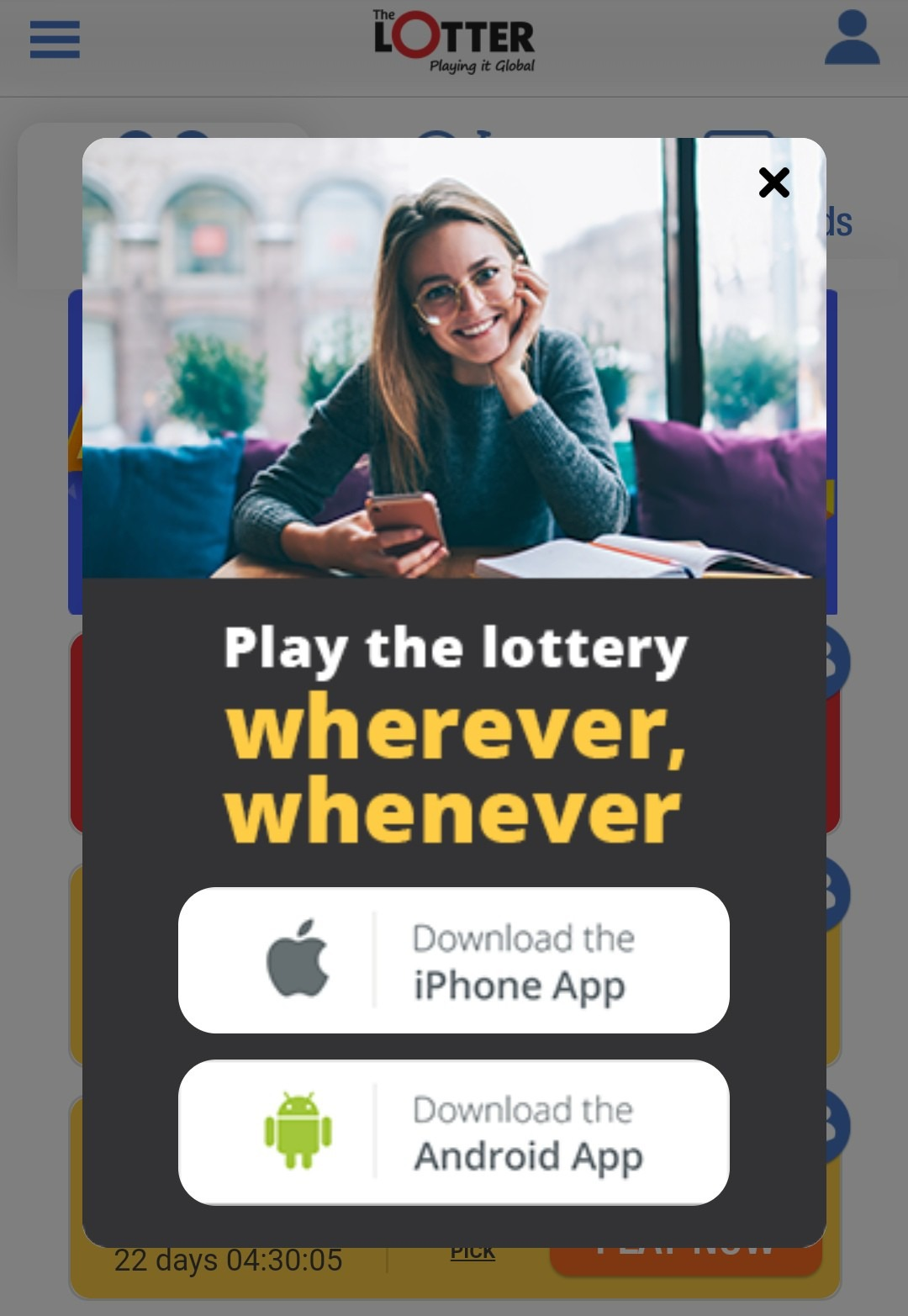 TheLotter app
