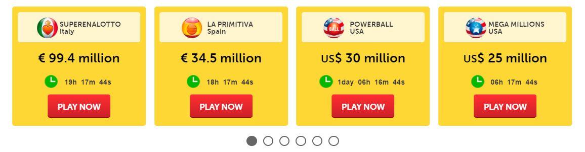 Lotteries on WinTrillions