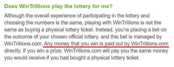 WinTrillions Winnings